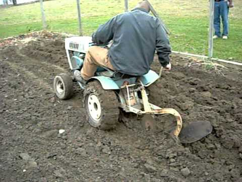 Plowing With Sears Suburban 12 Garden Tractor Youtube