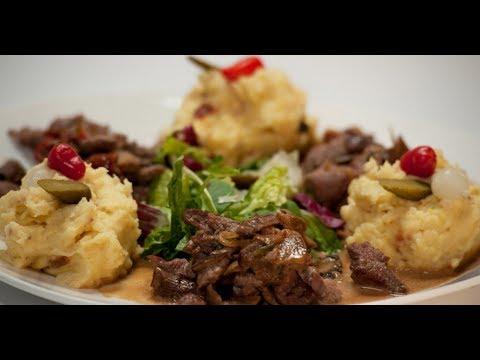 Бефстроганов на сливках с грибами и вялеными томатами   Мясо. От филе до фарша