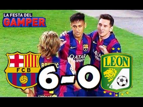 "Barcelona vs León 6-0| RESUMEN Y GOLES HD| Amistoso Trofeo ""Joan Gamper""| 18-08-2014"