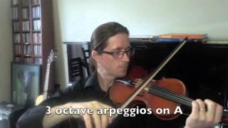 5th Grade AMEB Violin Technical Work Demonstration