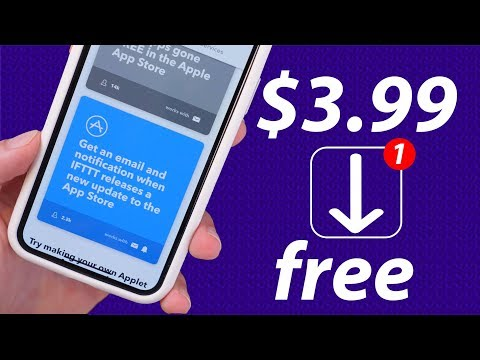 How to: Get notified when ANY apps go free