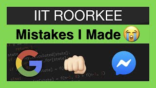 Lessons Learnt at IIT Roorkee | Software Engineer Edition