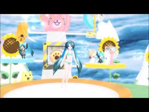 Hatsune Miku (Bikini)  Viva Happy [MMD] [R18]