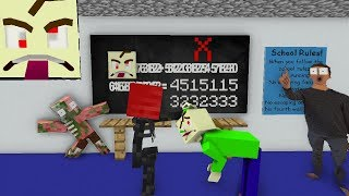 Monster School : BALDI'S GAME ERROR CHALLENGE (hack) - Minecraft Animation