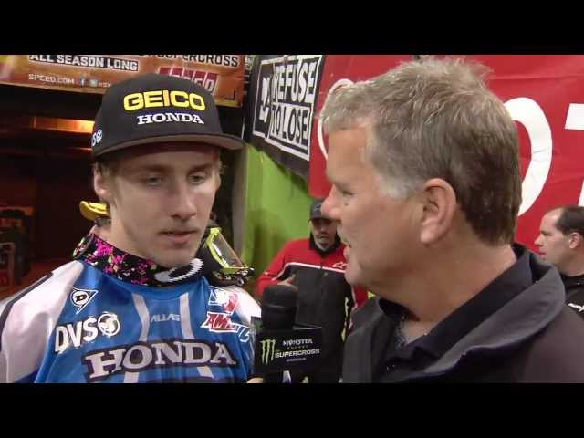 Supercross LIVE! 2012 - And On the Podium Tonight - Justin Barcia in St. Louis