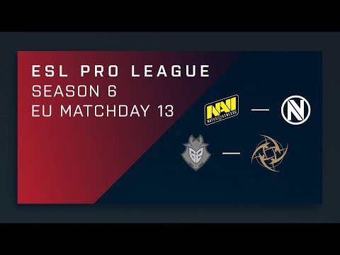 CS:GO: NaVi vs. EnVy | G2 vs. NiP - Day 13 - ESL Pro League Season 6 - EU Main Stream