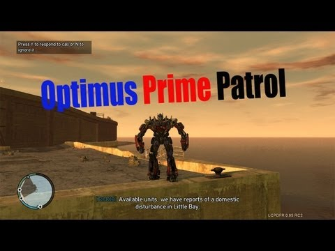 GTA IV LCPDFR Optimus Prime Patrol - Searching For Megatron!