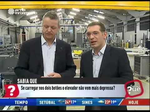 """Sabia que"" da RTPi filmado na Schmitt+Sohn Elevadores"