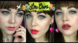 Lime Crime - True Love Trio Swatches