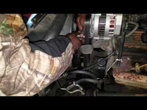 How to change alternator on 1994 z71