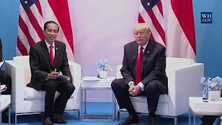 President Trump Participates in an Expanded Meeting with President Joko Widodo of Indonesia