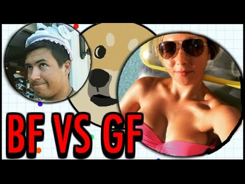 AGARIO WITH MY GIRLFRIEND! - Crazy Funny Agario Biggest Cell Gameplay!