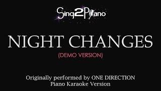 Night Changes Piano Karaoke Demo One Direction