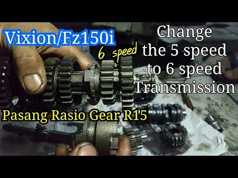 Vixion/Fz150i 6speed pasang rasio gear R15   upgrade Transmisi New Vixion Lighting   17 agustus 2017