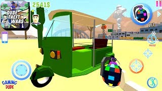 Dude Theft Wars: Open World Sandbox Simulator BETA - New TUK TUK Vehicle | Android Gameplay HD
