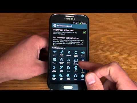 Samsung Galaxy S4 : Notification Panel Customisation (Galaxy S4