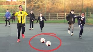 PLAYING KIDS AT FOOTBALL!! Meeting the 7 Year Old NEYMAR