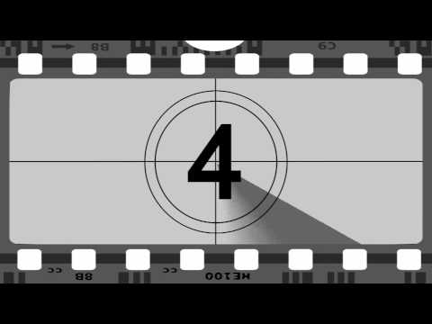 Old Movie 10 Seconds Countdown, B&w Film, Widescreen Hd video