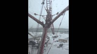 Mammoet crane at work