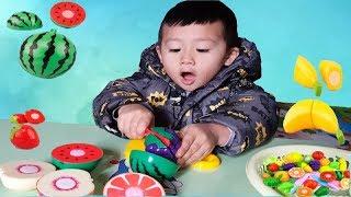 Trò Chơi Cắt Hoa Quả ❤ Bé Học Màu Sắc ❤ BoBo Kids TV ❤