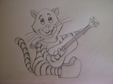 Видео как нарисовать кота Матроскина