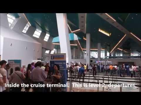 Marina Bay Cruise Centre Singapore Walk to MRT Station Marina South Pier