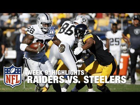 Raiders Vs Steelers Week 9 Highlights Nfl