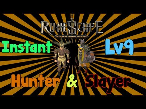 """""""Runescape 07″ – quick tips: INSTANT Lv 9 Hunter & Slayer! – Quick Hunter and Slayer XP"""