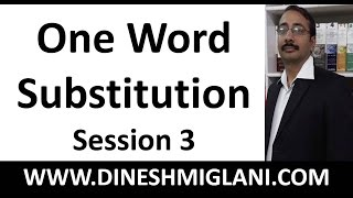 One Word Substitution in English with Tricks for SSC CGL CHSL Vocabulary Session 3 by Dinesh Miglani