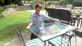 Lucille Ball Desi Lucie Arnaz 1950's original Patio Set Wrought Iron at www.Connectibles.net