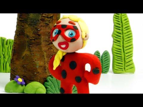Miraculous Ladybug Frozen Elsa 💕 Superhero Play Doh Stop motion videos