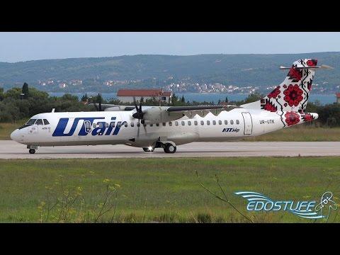 RARE! UTair Ukraine - ATR-72-500 UR-UTK - Takeoff from Split Airport SPU/LDSP