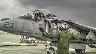 AV-8B Harrier Jet READY TO TAKEOFF: Preflight Ops @ Marine Corps Air Station Iwakuni, Japan