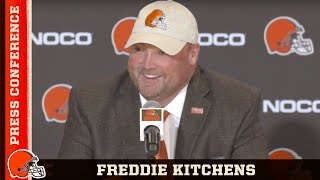Freddie Kitchens' Introductory Press Conference w/ GM John Dorsey | Cleveland Browns