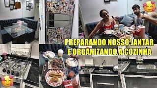 PREPARANDO O NOSSO JANTAR A DOIS (CHURRASCO) E ORGANIZANDO A COZINHA | VLOG