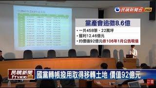 黨產會認定458筆不當財產 將追徵8.6億