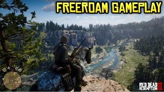 Red Dead Redemption 2 FREE ROAM GAMEPLAY! Exploring the Map, Gore, 1st Person & MORE! (No Spoilers)