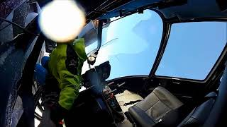 Helicopter R-44 Crash And Burn Cockpit View