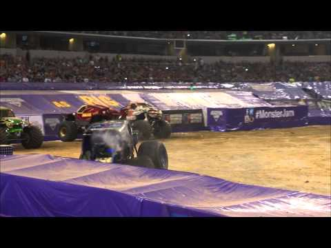 Monster Jam - Son-uva Digger Freestyle in Arlington, TX - Feb 22, 2014