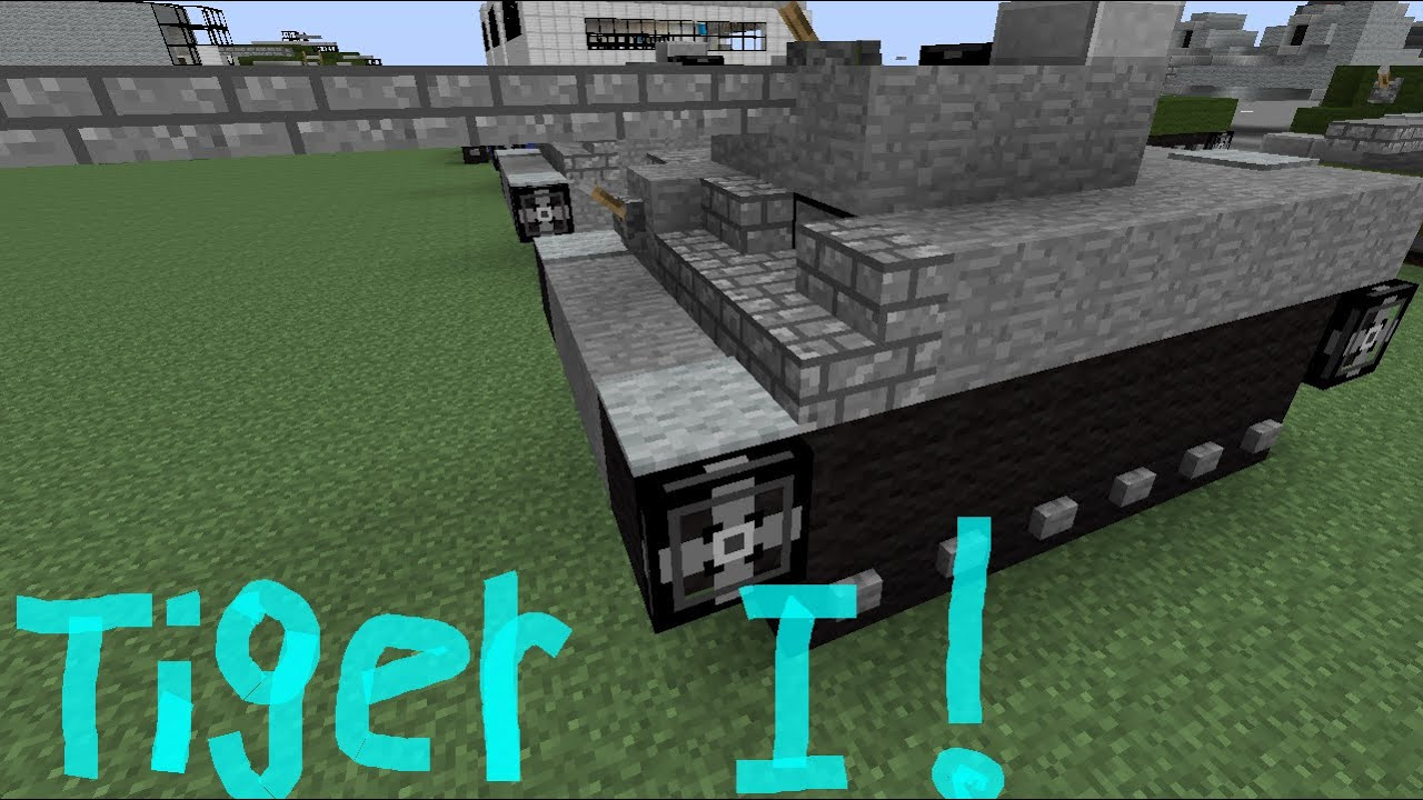 Tiger Tank and Panzer IV! (Minecraft Tutorial) - YouTube
