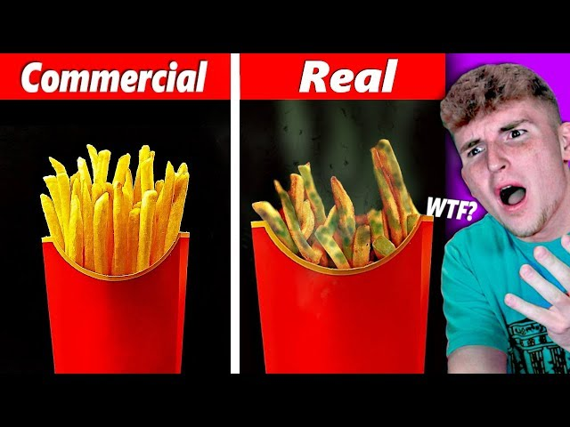 FOOD In COMMERCIALS VS. FOOD In REAL LIFE.. (Ridiculous) thumbnail