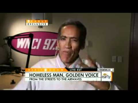 Exclusive + New Look!!! Ted Williams &#8211; Homeless Man &#8211; Golden Voice Finds Job on CBS News