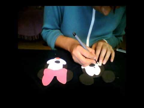 Manualidades Luna Clara: Centro de mesa de Mickey Mouse