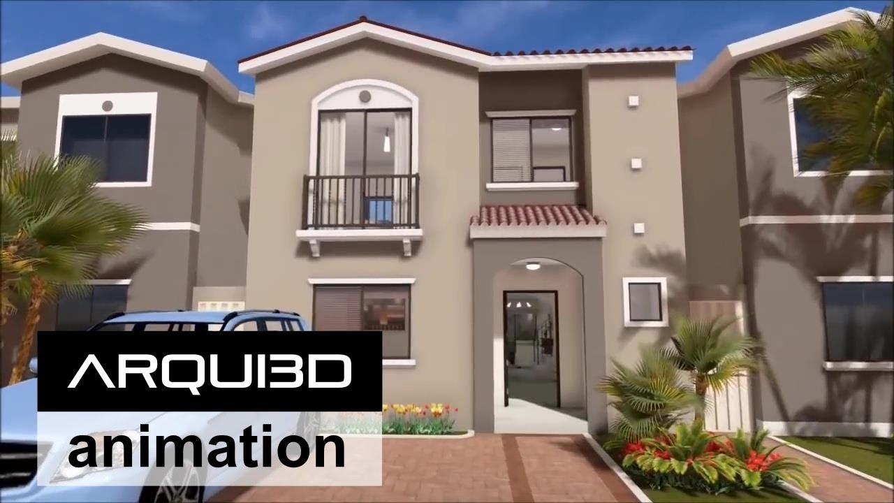 Isabella recorrido virtual interior por arqui3d for Casas modernas recorrido virtual