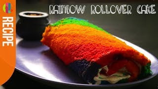 Rainbow Rollover Cake Recipe | Tilly Ramsay