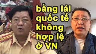 Thượng tá CSGT TP.HCM bị SỐC khi xem Clip: Bằng lái xe quốc tế có không giá trị ở Việt Nam