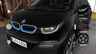 New BMW i3s electric car on Apple ARkit
