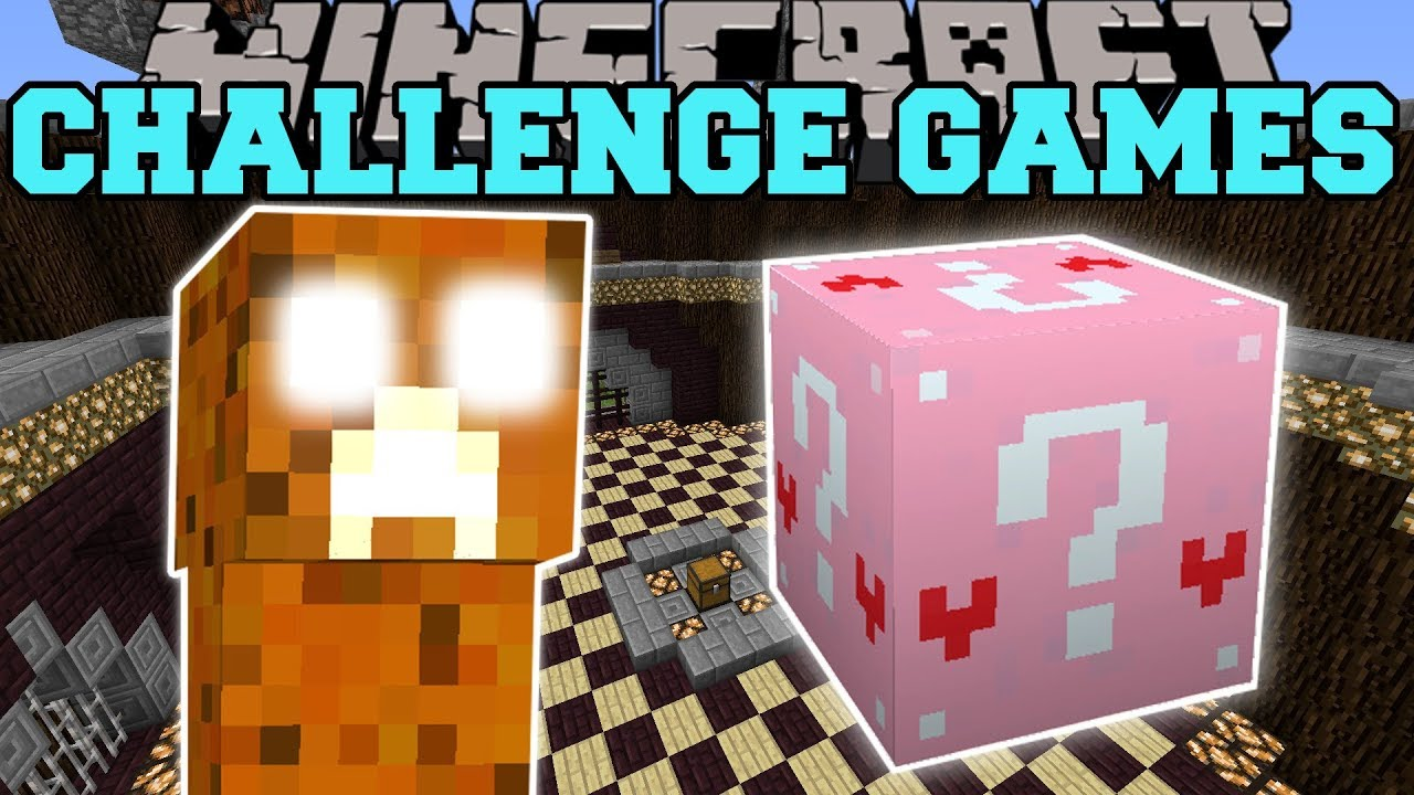 Minecraft: CANDY CREEPER CHALLENGE GAMES - Lucky Block Mod - Modded Mini-Game