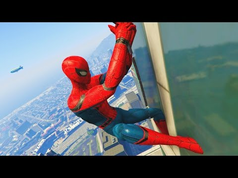 GTA 5 Mods - SPIDERMAN MOD! (GTA 5 PC Mods)