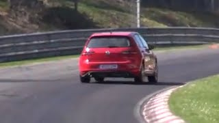 VW Golf GTI 7 GTI tested hard on the Nürburgring Nordschleife!